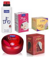 VIJOHN's Women Care Kit (Hair Remover Rose & Saffron Gold Fairness Cream & Body Butter Jar 200GM & perfume Black Berry & Deo )