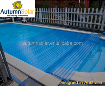 Automatic solar swimming pool covers with transparent color China ...