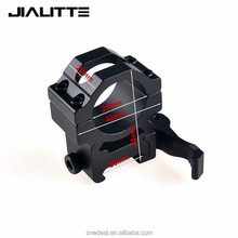 Jialitte 25.4mm Ring Tactical QD Quick Release Mount Adapter Fit 20mm 21mm Picatinny Weaver Rail Base Hunting Accessories J075