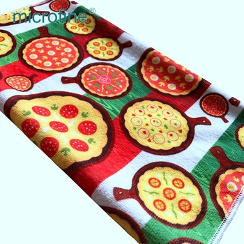 Superior stable print 100% polyester super soft home textile towel