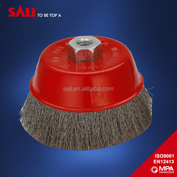 "Factory Direct selling customized 6"" twisted wire brush"