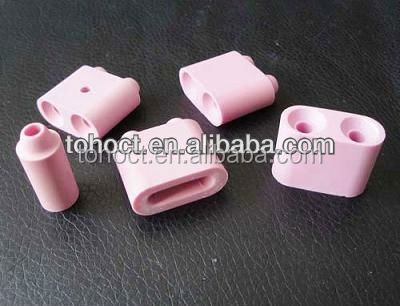 pink/ white ceramic pad/ ceramic beads in alumina for heating
