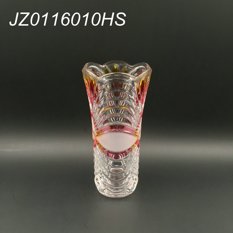 2017 Wholesale 23cm trumpet cylinder crystal glass vase