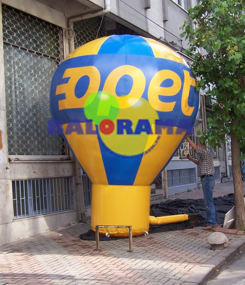 4m inflatable roof-top balloon, inflatable ground balloon, advertising inflatables