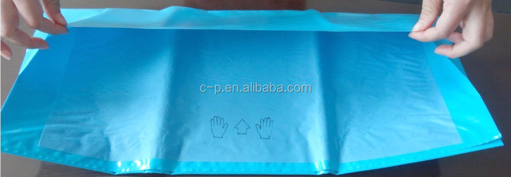 Disposable surgical blue mayo stand covers leggings