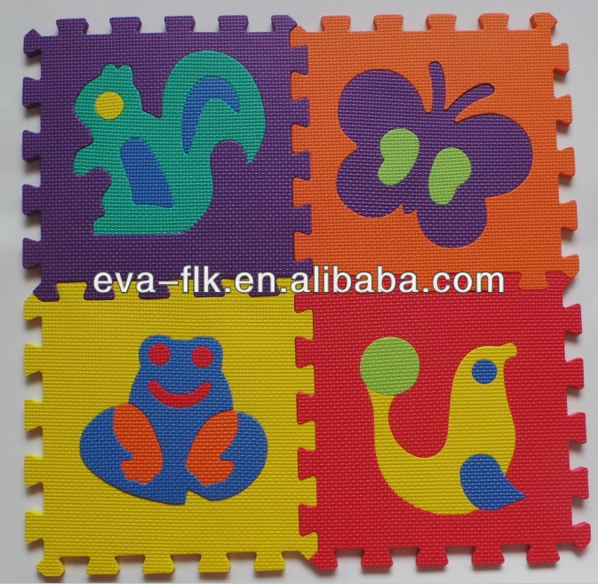 Safe Non-toxic baby eco-friendly interlocking eva foam floor mats