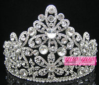 luxurious holiday fashion adult custom cheap tall pageant crown tiara