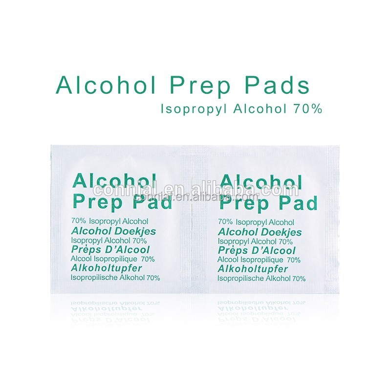 medical use Alcohol Prep Swap Pad Wet Wipe for Antiseptic Skin Cleaning Care