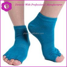 YIBOLI Factory High quality Anti Slip Grip Rubber Sole Ladies Barre Sock Yoga Sock