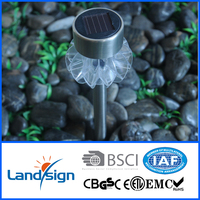 Cixi Landsign solar garden light factory direck sell solar stick light series solar stainless steel light