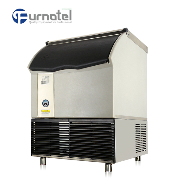 FRIM-3-2 Furnotel Industrial Ice Maker 80KG Combination Model Ice Cube Machine Heavy Duty Design