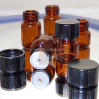2 ml (5/8 dram) Essential Oil Use Amber Glass Medical Vials with Orifice Reducer & cap