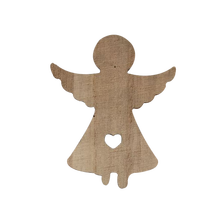 Wholesale wood hanging christmas angels decorations