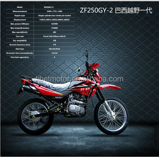 Chinese manufacture popular mini motorbike ZF250GY-2