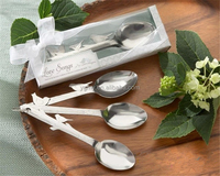"wedding favor gift and giveaways for guest--""Love song"" stainless steel love birds spoon return goods party souvenir"