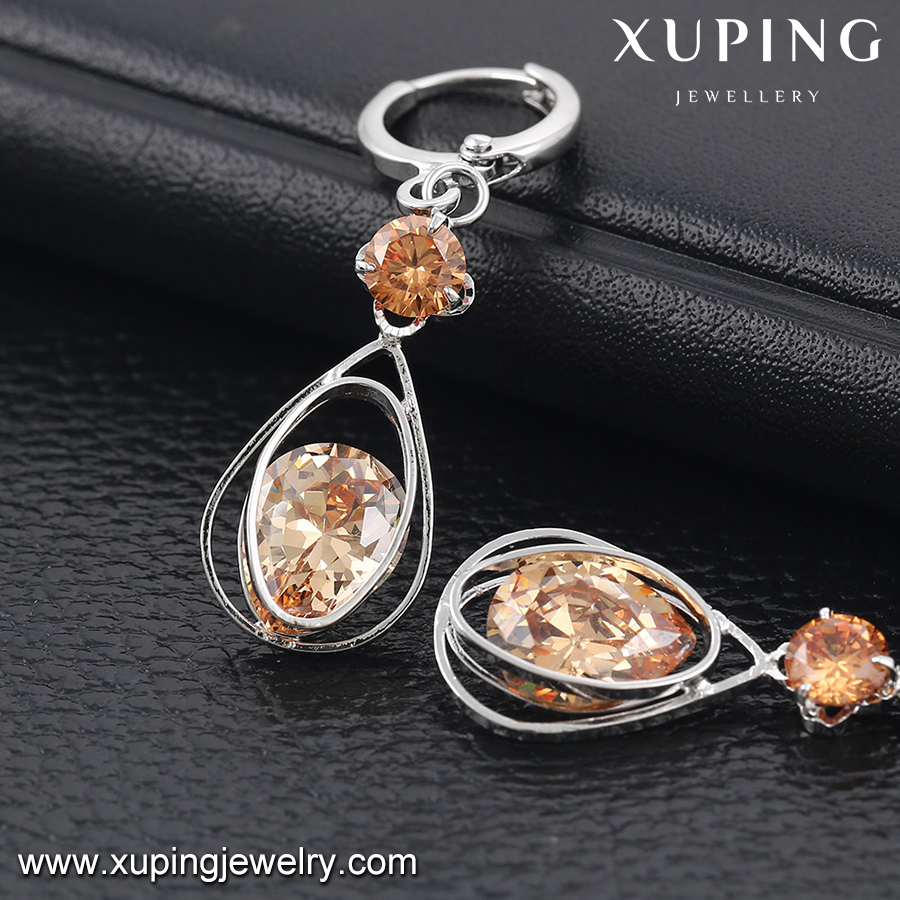92097 XUPING fashion drop diamond crystal gemstone earring for women