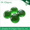 green colored iridescent flat back lampwork glass beads for garden