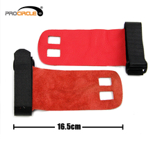Bright Red Protective Multisize Leather Gymnastic Hand Grip