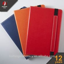 custom agenda planner pu leather elastic notebook with pocket