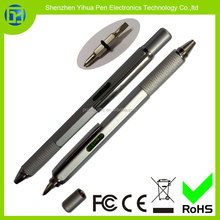Hot new products for 2015 Metal tool ballpen with level screwdriver,metal pen with level and screwdriver