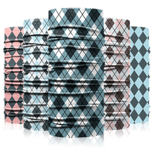 Seamless Letter Skull Sublimation Plaid Tube Promotional Headwear Bandana