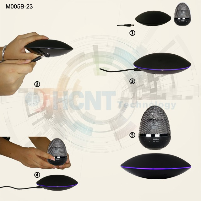 HCNT Levitating Portable Wireless Bluetooth Speaker with Led Light for Phone