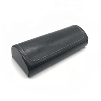 Hand made PU leather comfortable folding glasses cases