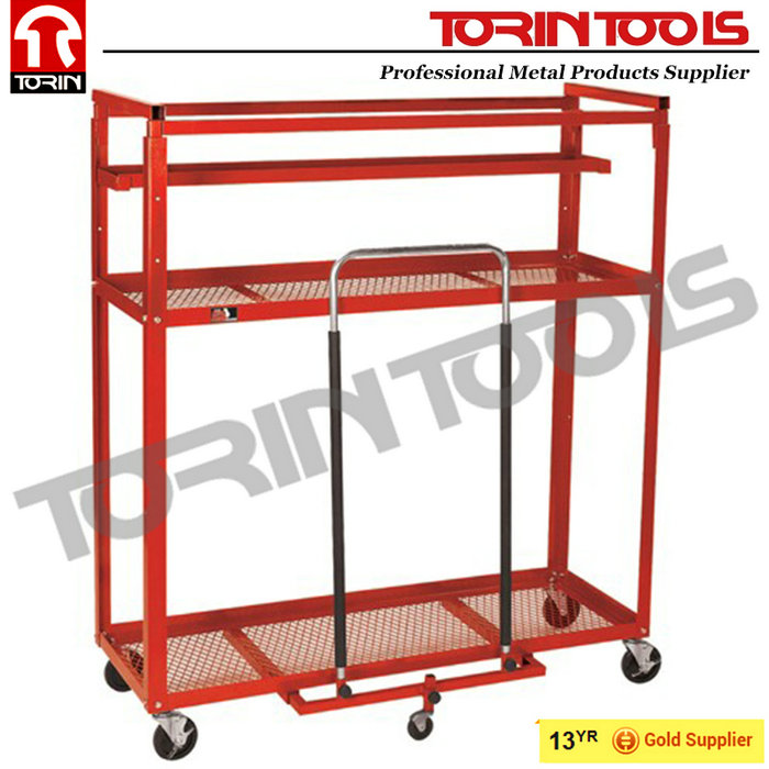 High Quality European Warehouse Moveable 3 Tier Logistic Trolley
