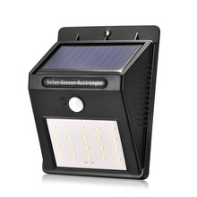 2018 New Product Wholesale Solar Light Outdoor Wireless 20 LED Solar Powered Light Motion Sensor Led Lights