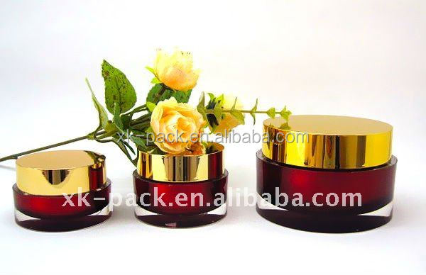 round cylinder acrylic cream jars 15g cosmetic container