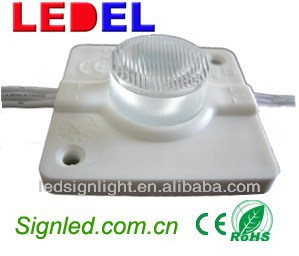injection LED module lightbox with lens white led module for building reception stainless steel record board signage