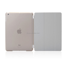 Full Protector Leather Hard Smart Cover and Rubberized Back Case for iPad Pro 9.7 Case, Detachable, Silver/Gray
