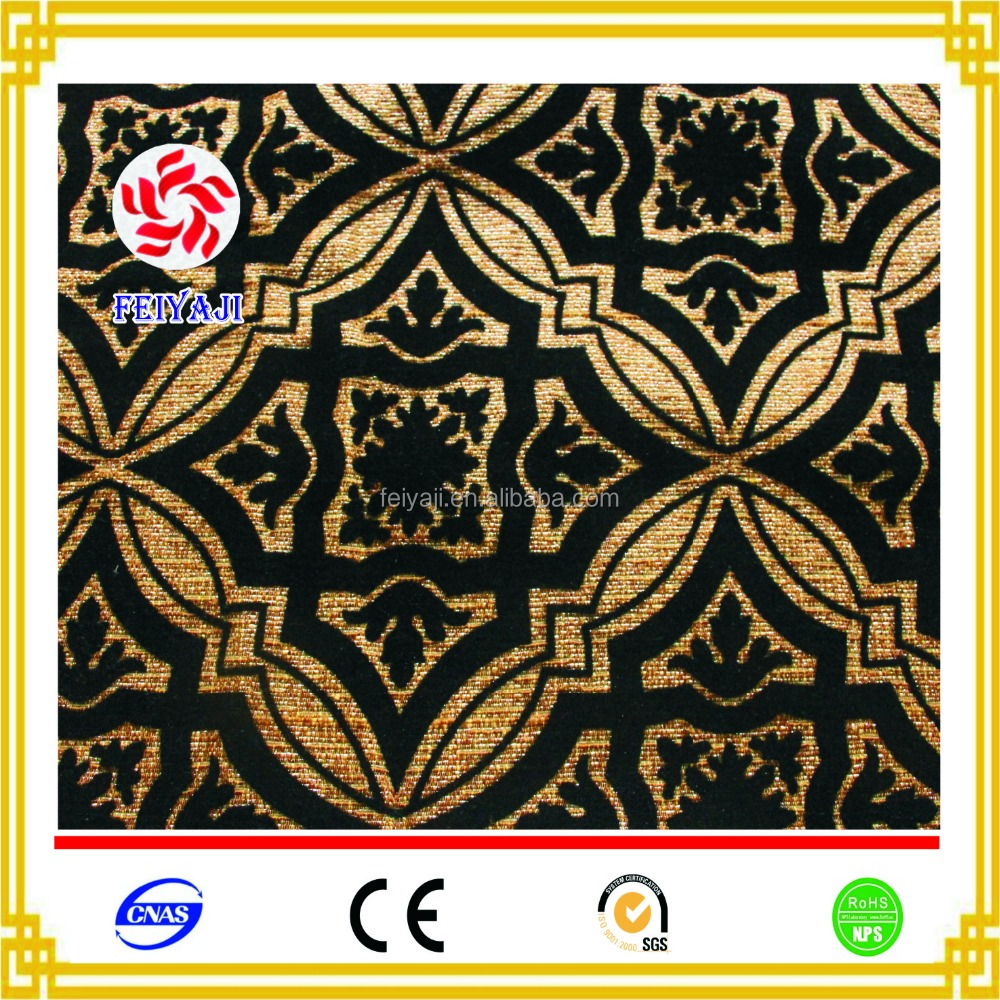 Wholesale Fashion Design African Flocked Printing Sofa Cover Fabric Textile Made In China