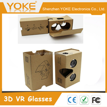 2016 Cheapest VR Box 3D google cardboard Box virtual reality Paper DIY Box cardboard glasses V2.0 for 3.5 to 6 inch phones
