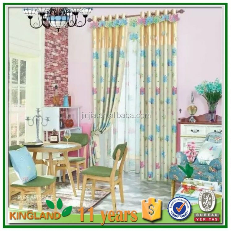 Blackout curtains fabric rolls jacquard window curtains design