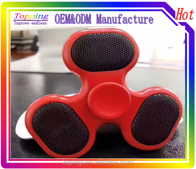 Finger Spinner with Built in Bluetooth Speaker Hand Spinner with TF Cards Tri Finger Spinning Top