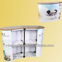 Top Advanced Promotion Table (2*2,curved)/sales counter/reception table