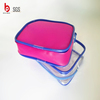 2015 Professional Manufactory clear EVA Plastic cosmetic zipper bag
