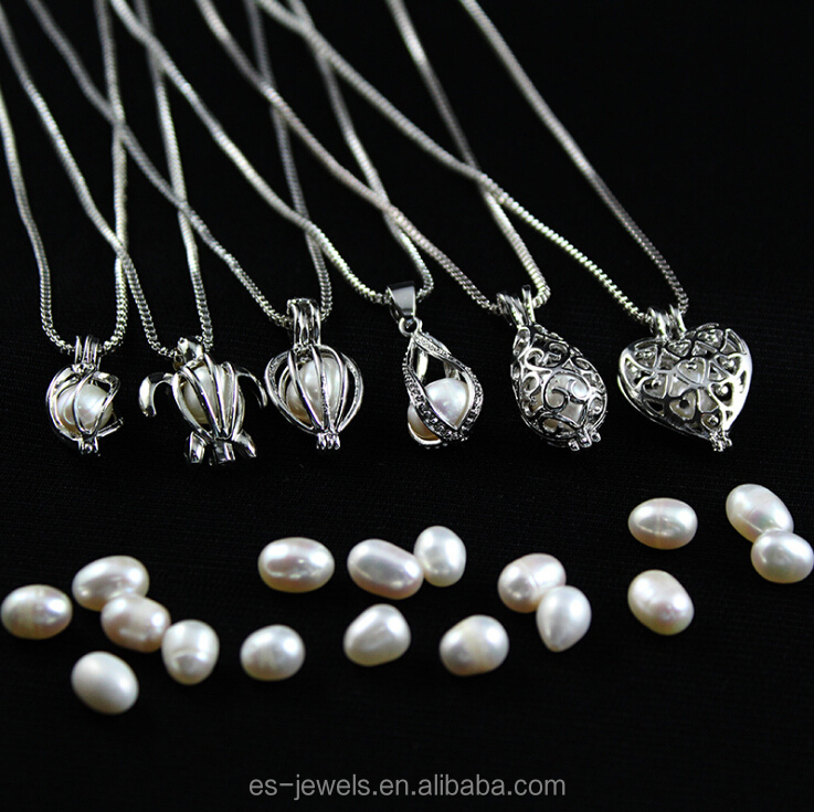 Customized Cheap 925 Sterling Silver Pearl Cage Pendant For Promotion