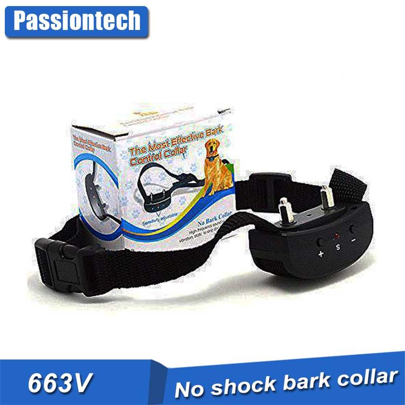 Stop Barking Control Dog Collar [2018 New Version] Adjustable Beep Vibration With Battery Humane Dog Barking Collar 663V
