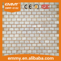 pure white river mother of pearl shell mosaics brick pattern washroom bathroom wall tile mosaics