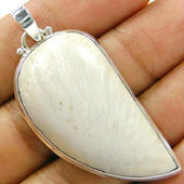 Scolecite personalized silver pendants, Scolecite sterling silver mens pendants, Scolecite unique sterling silver pendants