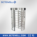 Anti-tailgating stainless steel gate full height turnstile price