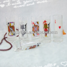 New products poker glasses suits shot drinking glass creative transparent spirits glass cup
