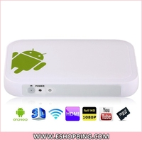 TV01 Android 4.0 Amlogic 8726-M3 1.0GHz 4GB Mini PC Android TV with Wi-Fi2 x USB2.0RJ45