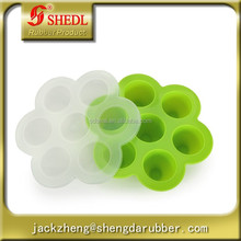Silicone Baby Food Freezer & Storage Tray - FDA-approved & BPA Free - Come With A Lid, Easy To Make Milk Freezer Food (green)