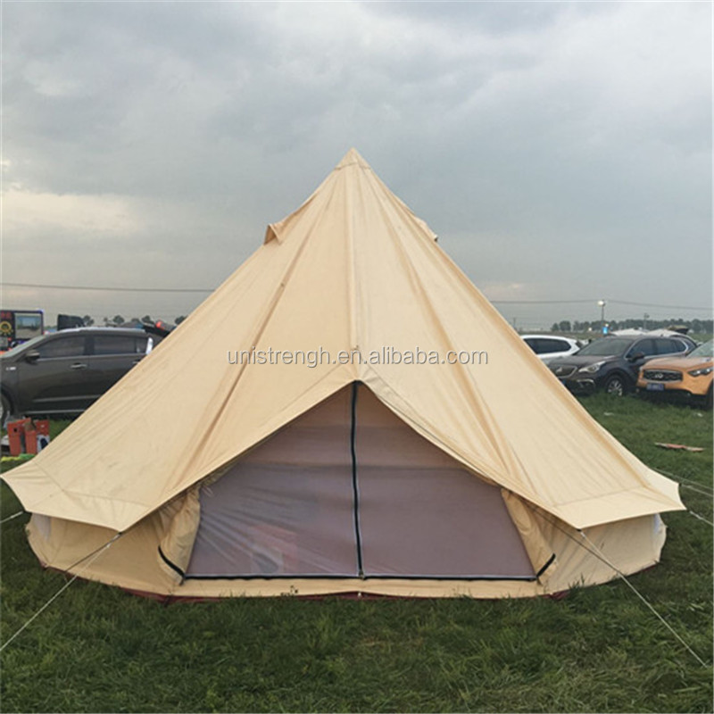 Outdoor Camping Waterproof Cotton Fabric Canvas Inflatable Pool Dome Yurt Glamping Tent