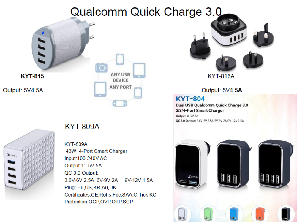 40W SAA C-TICK approved charger 5USB Charger KC certificate USB Charger mobile phone accessories