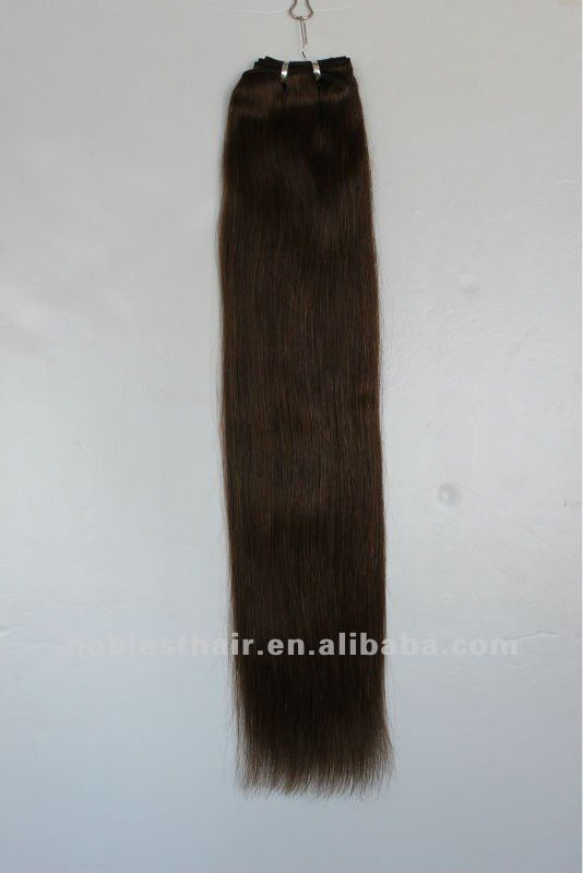 straight machine weft fir braiding cheap Indian remy hair 4# straight hair extension 4oz/pack