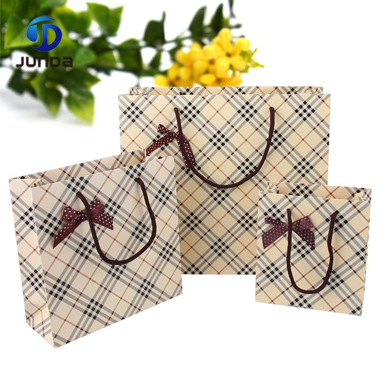 New arrival brown paper shopping bag with handle